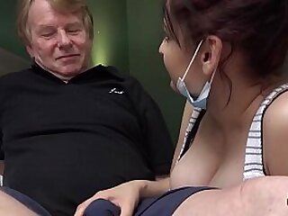 Naughty young gets fucked by old