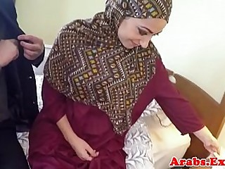Pounded muslim babe jizzed nearly mouth